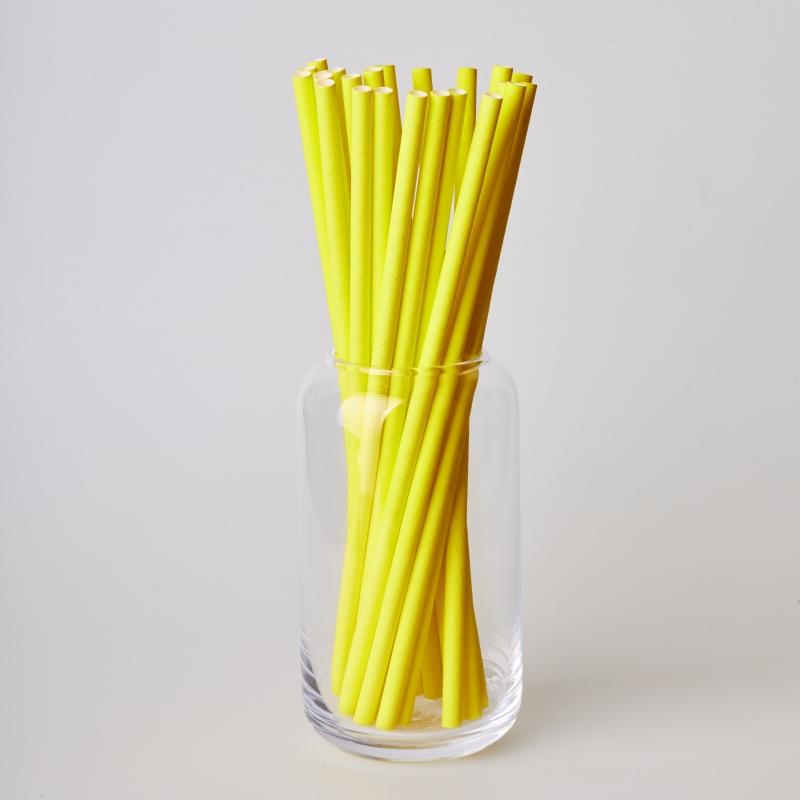 Трубочка бумажная желтая  (250/500шт.)