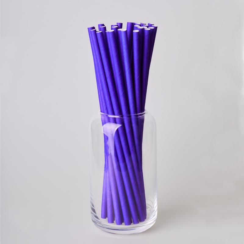 Соломинка паперова фіолетова (250/500шт.)