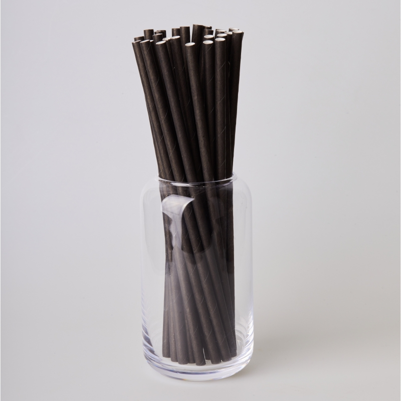 Трубочка бумажная черная (250/500шт.)