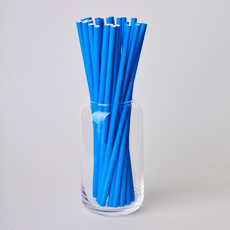 Трубочка бумажная синяя (250/500шт.)