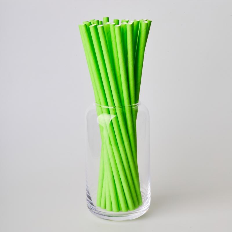 Соломинка паперова зелена (250/500шт.)