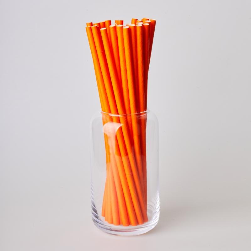 Соломинка паперова помаранчева (250/500шт.)
