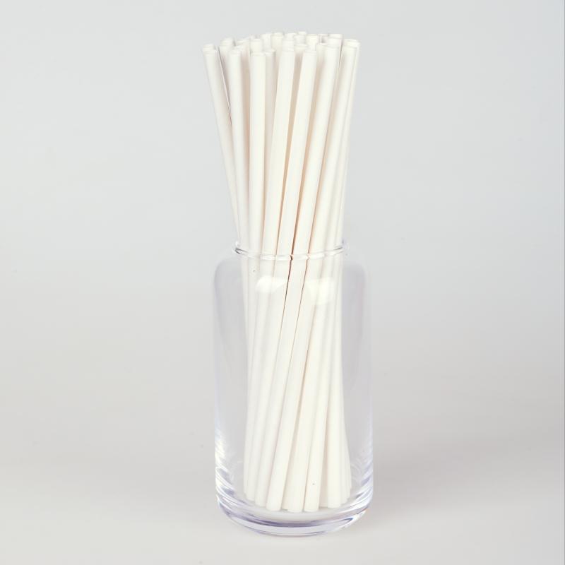 Трубочка бумажная белая (250/500шт.)
