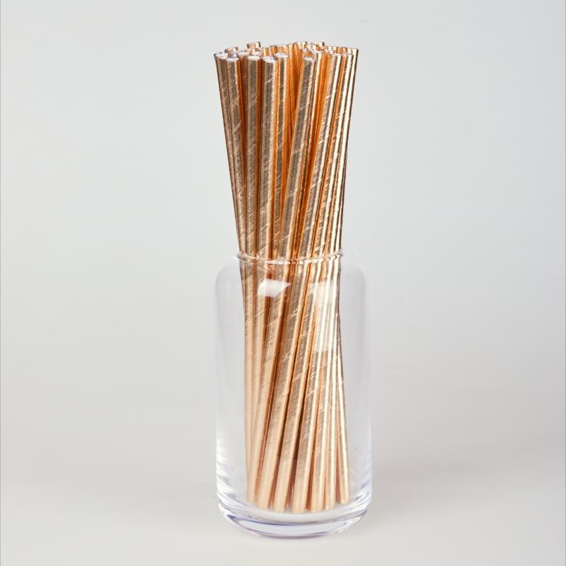 Трубочка бумажная золотая  (250/500шт.)