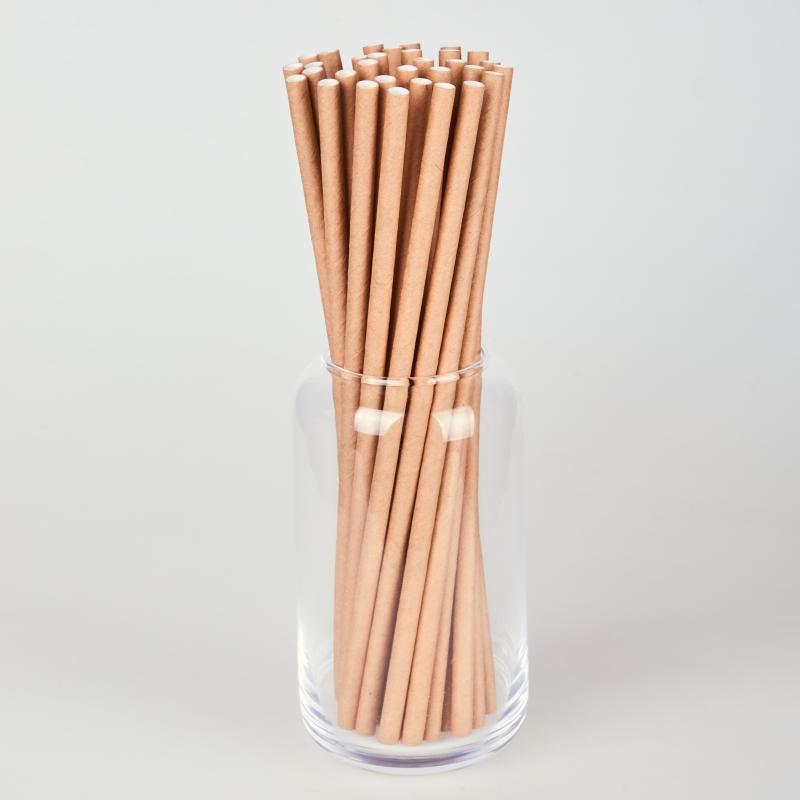 Трубочка бумажная крафтовая  (250/500шт.)